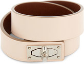 Givenchy Double-wrap shark tooth leather bracelet