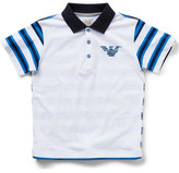 Armani Junior Boys Striped Short Sleeve Polo With Logo