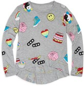 Flowers by Zoe Girls' Smiley Face, Cake & Heart Print Top