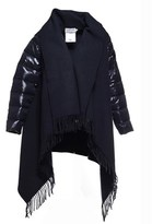 Moncler Women's Blue Wool Down Jacket.