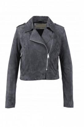 Oakwood Zulina Petrol Suede Biker Jacket - Medium