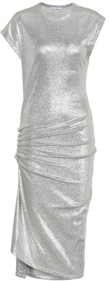 Paco Rabanne Metallic jersey dress