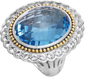 Lagos Statement Rings 18K & Silver 3.47 Ct. Tw. Sapphire & Swiss Blue Topaz Ring