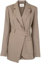GOEN.J asymmetric wrap blazer