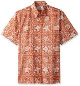 Reyn Spooner Men's Spooner Kloth Pullover Classic Fit Button Front Hawaiian Shirt Heritage