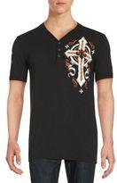 Affliction Cotton Henley V-Neck T-Shirt