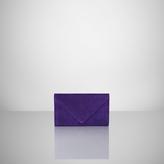 Ralph Lauren Suede Envelope Clutch