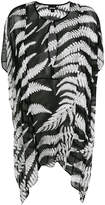 Just Cavalli sheer fern print dress