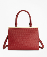 Brooks Brothers Woven Leather Satchel