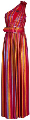 retrofete Andrea Rainbow Lame Maxi Dress
