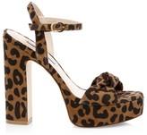 Stuart Weitzman Mirri Cheetah-Print Leather Platform Sandals