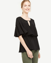 Ann Taylor Tiered Ruffle Top