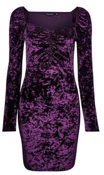 Dorothy Perkins Womens Purple Sweetheart Neck Bodycon Dress, Purple