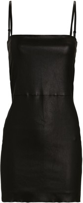 Sprwmn Tube Line Leather Dress