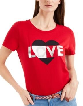 Tommy Hilfiger Embellished Print T-Shirt