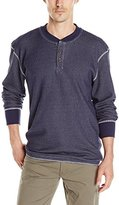 Wrangler Men's Big and Tall Long Sleeve Waffle Henley