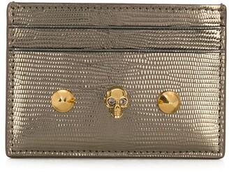 Alexander McQueen metallic Skull cardholder