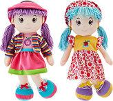 "Set of Two Lollipop Kids 20"" Soft Bodied Rag Dolls"