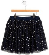 Stella McCartney Girls' Tulle Heart Print Skirt