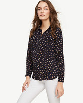 Ann Taylor Abstract Feather Camp Popover