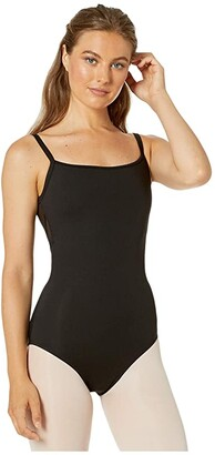 Bloch Cross-Back Camisole Leotard (Black) Women's Jumpsuit & Rompers One Piece