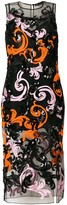 Versace embellished fitted dress