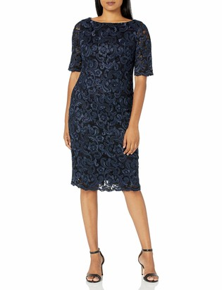 Eliza J Women's Lace Midi Sheath Dress