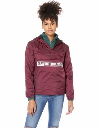 Obey Junior's International 2 Hooded Half Zip Anorak