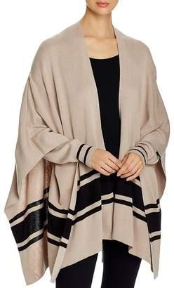 Elan International Striped Cardigan Poncho