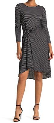 Max Studio Stripe Twist Detail Knit Dress