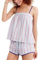 J.Crew Women's Candy Stripe Short Pajamas