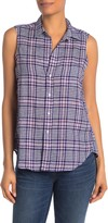 Frank And Eileen Fiona Sleeveless Linen Button-Down Top