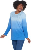 Factory Quacker Dip Dye Ombre Sequin Front French Terry Pullover