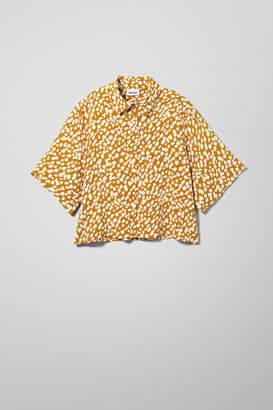 Weekday Hall Short Sleeve Shirt - Yellow
