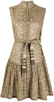 Zimmermann Leopard-Print Sleeveless Dress