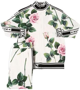 Dolce & Gabbana Rose Print Cady Sweatshirt & Pants