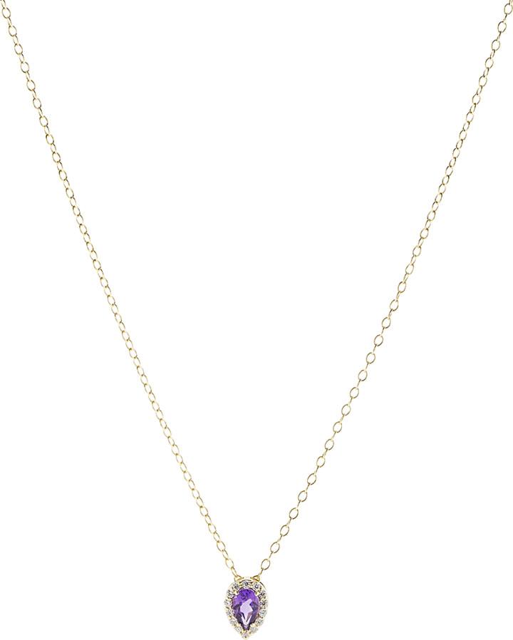 Alison Lou Amethyst Pendant Necklace