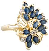 Ring Sapphire & Diamond Cluster