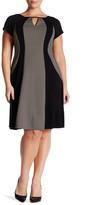 Sandra Darren A-Line Knit Dress (Plus Size)