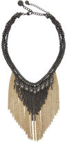 BCBGeneration Stone and Chain Detail Twofer Necklace