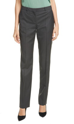 HUGO BOSS Tamea Vichy Check Straight Leg Wool Pants