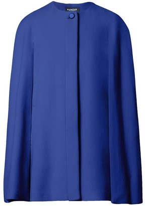 Rumour London Cora Wool & Cashmere-Blend Cape Coat In Royal Blue