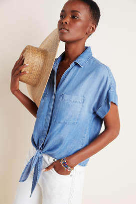 Cloth & Stone Tie-Front Chambray Blouse