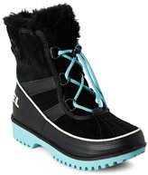 Sorel Kids Girls) Black & Aqua Tivoli Waterproof Boots