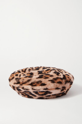 Yves Salomon Leopard-print Shearling Beret - Leopard print