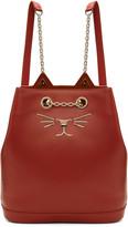 Charlotte Olympia Red Feline Backpack