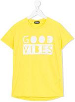 Diesel Good Vibes print t-shirt - kids - Cotton - 6 yrs