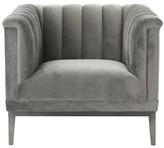 Eichholtz Raffles Armchair Upholstery Color: Gray