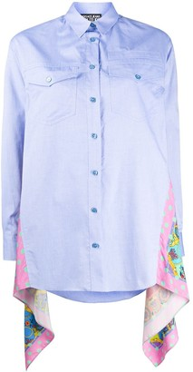 Versace Jeans Couture Paisley Loop Print panelled shirt