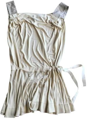Louis Vuitton Ecru Silk Dresses